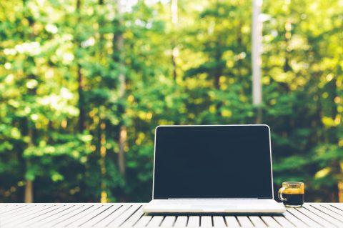 comprenew laptop outside